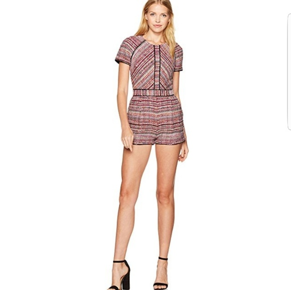 Adelyn Rae Pants - ADELYN RAE WOVEN JACQUERED ROMPER MAGENTA NWT M